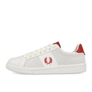 Fred Perry New B721 Perf Leather White