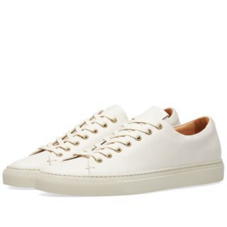 Buttero Lined Tanino Low Sneaker (White)