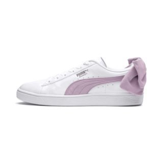 PUMA Basket Suede Bow sneakers (Wit/Roze)