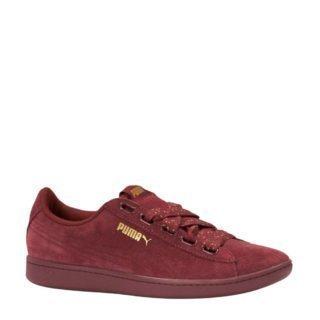 Puma Vikky Ribbon Dots suède sneakers donkerrood (rood)
