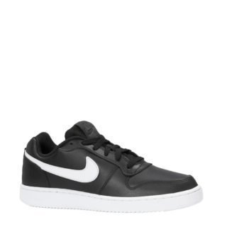 Nike Ebernon Low leren sneakers (zwart)