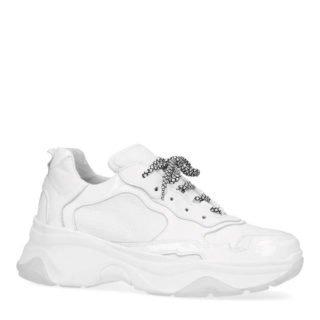 Sacha leren sneakers wit (wit)