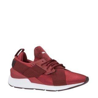 Puma Muse Satin sneakers donkerrood (rood)