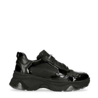Sacha leren sneakers met lak zwart (zwart)
