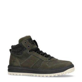 Manfield leren sneakers groen (groen)