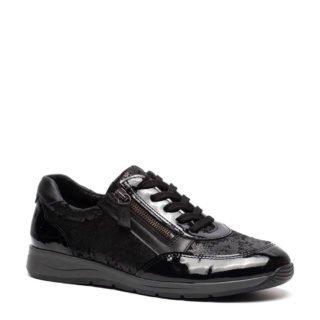 Natuform gebloemde lak sneakers zwart (zwart)