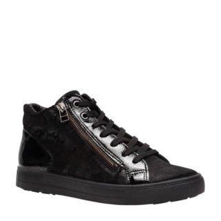 Hush Puppies leren sneakers zwart (zwart)
