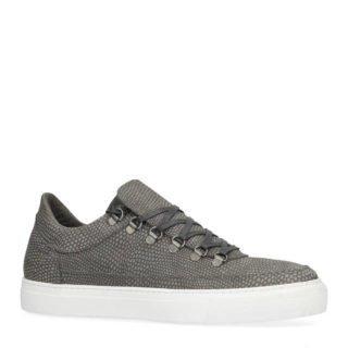 Sacha leren sneakers met slangen print grijs (grijs)