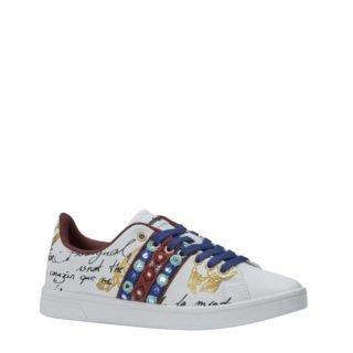 Desigual imitatieleren dames sneaker wit (wit)