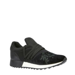 Mexx suède sneakers zwart (zwart)