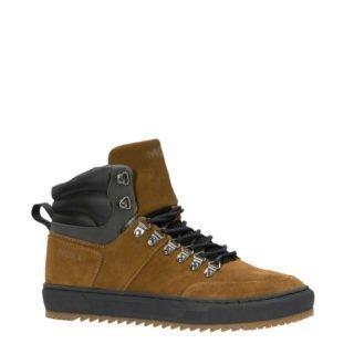 Mexx suède sneakers bruin (zwart)
