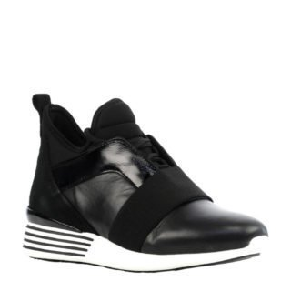 Hip leren sneakers (zwart)