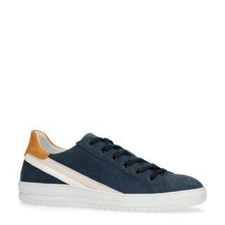 Manfield leren sneakers blauw (blauw)