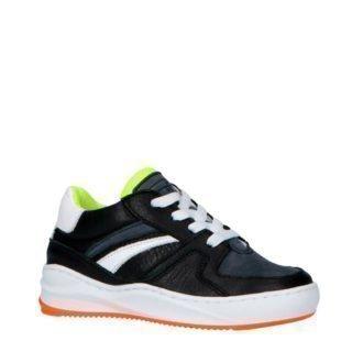 JOCHIE&FREAKS 194061200 leren sneakers zwart/wit (zwart)