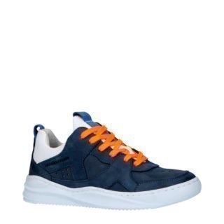 JOCHIE&FREAKS 196143720 leren sneakers donkerblauw (blauw)