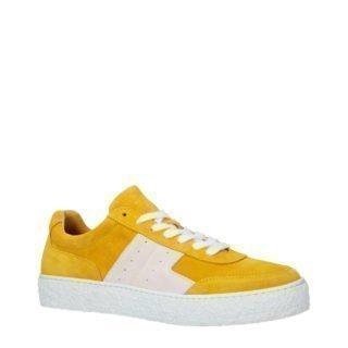 SELECTED FEMME SLFDINA SUEDE TRAINER B SLFDINA Suède Trainer B sneakers (geel)