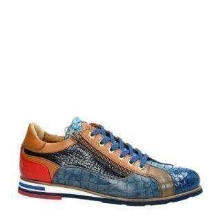 Lorenzi leren sneakers blauw (blauw)
