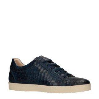 Manfield Black Label leren sneakers donkerblauw (blauw)