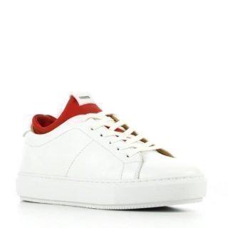 Shabbies Amsterdam leren sneakers wit (wit)