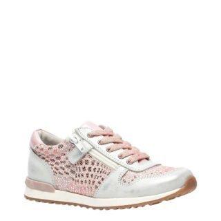 TwoDay leren sneakers roze/zilver (roze)