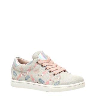 TwoDay suède sneakers grijs/roze (grijs)