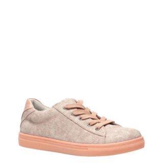 Groot leren sneakers roze (roze)