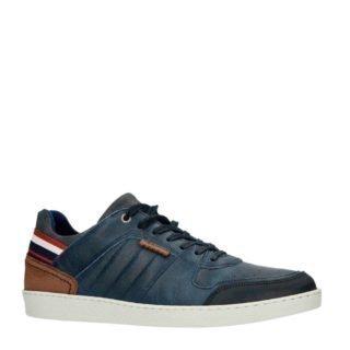 Sacha leren sneakers donkerblauw (blauw)