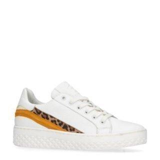 Sacha leren plateau sneakers wit (wit)