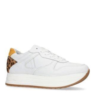 Sacha leren platform sneakers wit (wit)