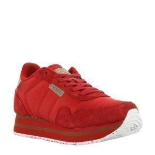 Woden Nora II Plateau sneakers rood (rood)