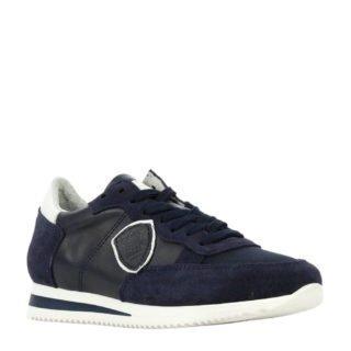 Hip H1895 leren sneakers donkerblauw (blauw)