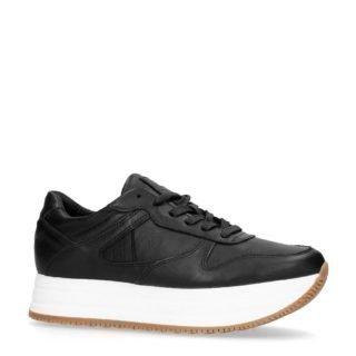 Sacha leren platform sneakers zwart (zwart)