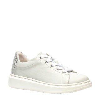 Groot leren sneakers wit (wit)