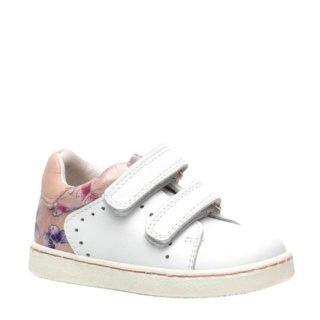 Groot leren sneakers wit/roze (wit)