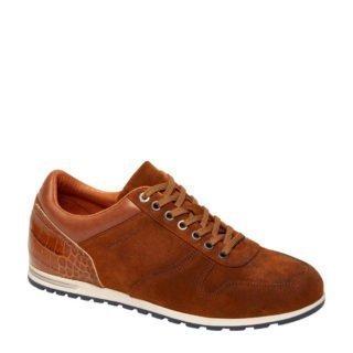 Van Lier suède sneakers cognac (bruin)