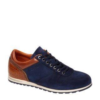 Van Lier suède sneakers donkerblauw (blauw)