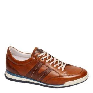 Van Lier leren sneakers cognac (bruin)