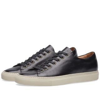 Buttero Lined Tanino Low Sneaker (Black)