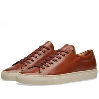 Buttero Lined Tanino Low Sneaker (Brown)