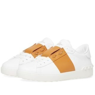 Valentino Open Low Sneaker (White)