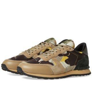 Valentino Rockrunner Sneaker (Brown)