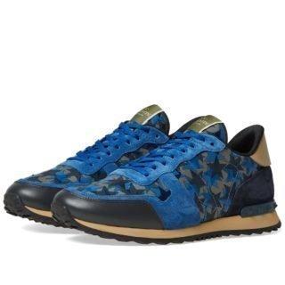 Valentino Star Camo Rockrunner Sneaker (Black)