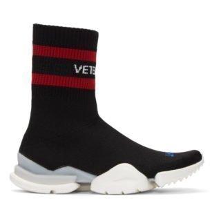 Vetements Black Reebok Edition Sock Pump High-Top Sneakers