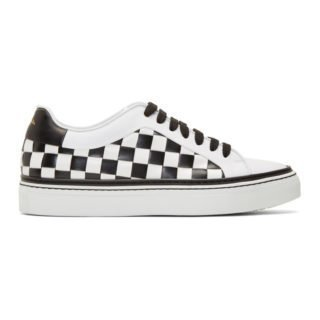Paul Smith Black and White Checkered Basso Sneakers