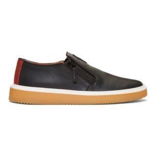 Giuseppe Zanotti Black Hoffman Slip-On Sneakers