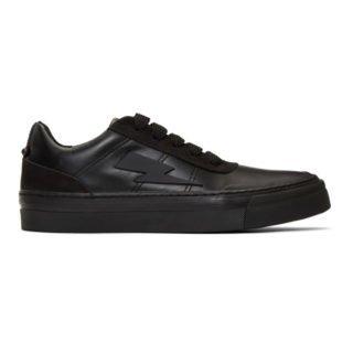 Neil Barrett Black Thunderbolt Skater Sneakers