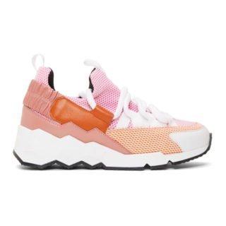 Pierre Hardy Pink and Orange Trek Comet Sneakers