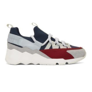 Pierre Hardy Blue and Grey Trek Comet Sneakers
