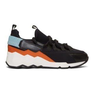 Pierre Hardy Black and Multicolor Trek Comet Sneakers