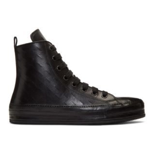 Ann Demeulemeester Black Maine High-Top Sneakers